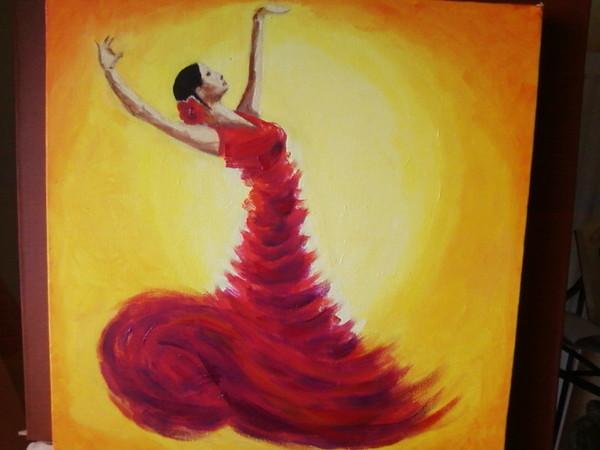 Peinture - Danseuse flamenco dessin ...